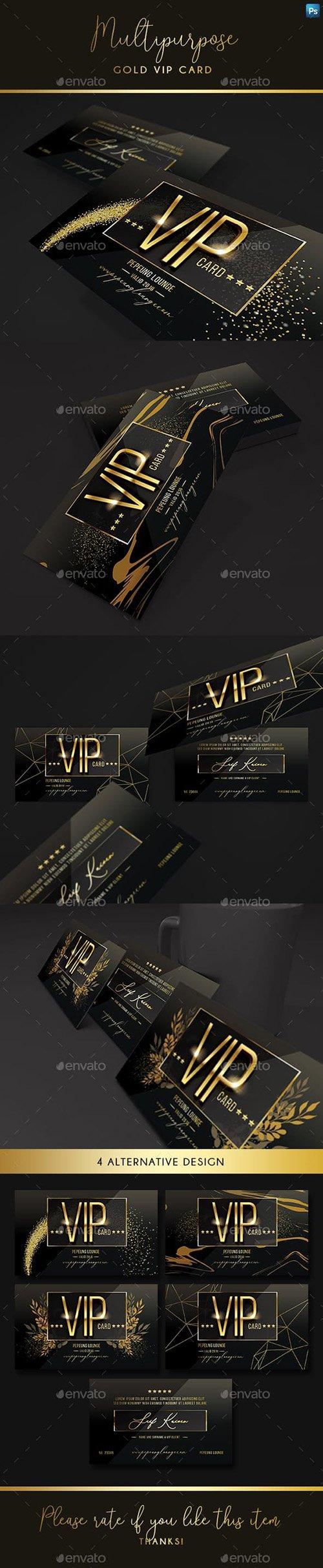 GraphicRiver - Multipurpose Gold Vip Card 23160930