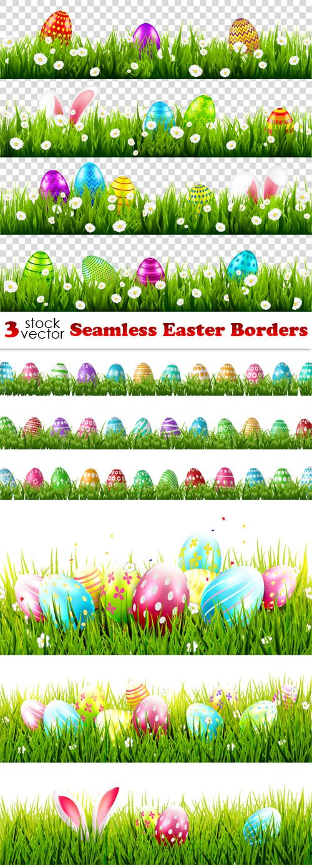 Vectors - Seamless Easter Borders