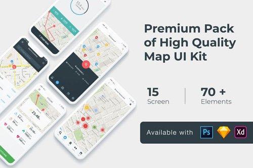 Map Tracking UI KIT