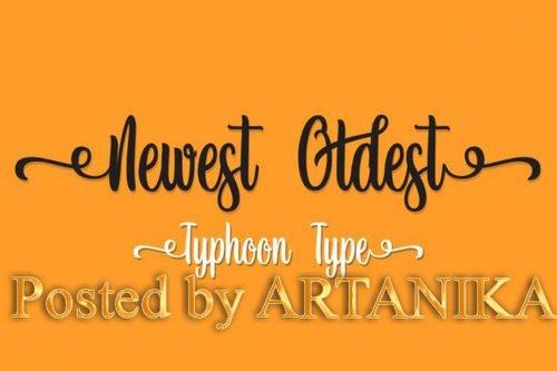 CM - Newest Oldest font 3551017