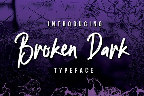 Broken Dark Typeface