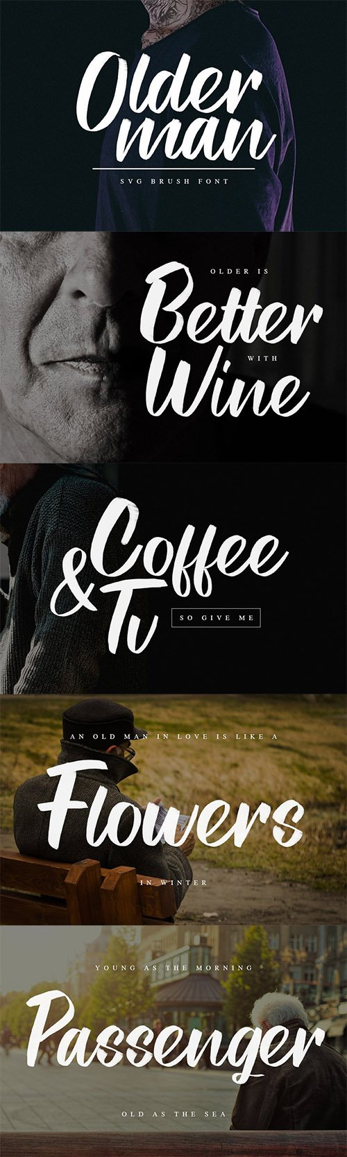 Olderman SVG Brush Font 3492556