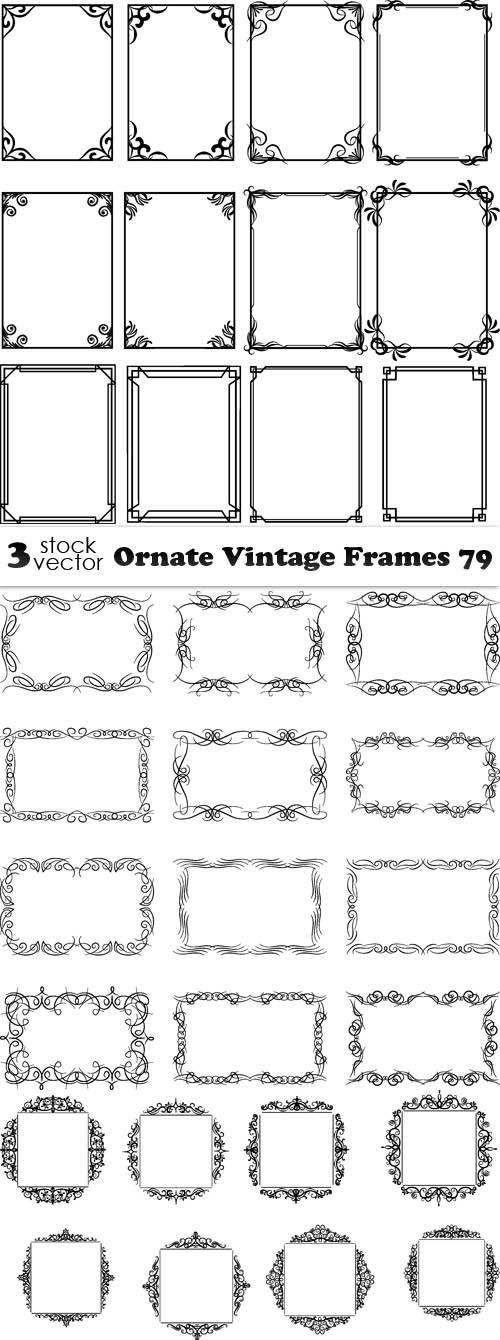 Vectors - Ornate Vintage Frames 79