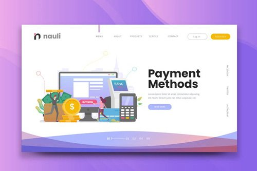 Payment Methods Web PSD and AI Vector Template