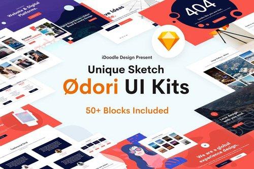 Odori - Creative UI Kits Sketch Template