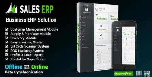 CodeCanyon - ERP v8.10 - Business ERP Solution / Product / Shop / Company Management - 19314578 - NULLED