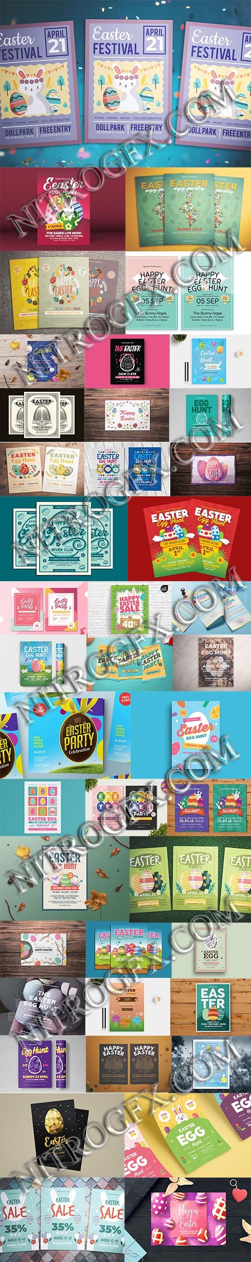 Happy Easter Big Flyers Bundle - More 41 Flyers in 1!!!