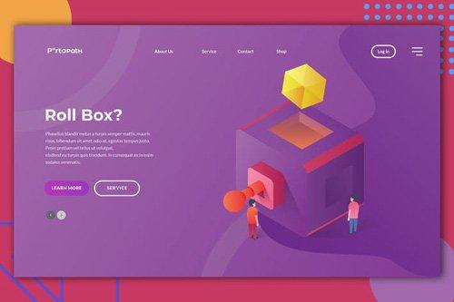 Roll Box Web Header Illustration
