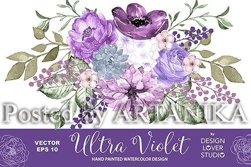 Ultra violet design vector