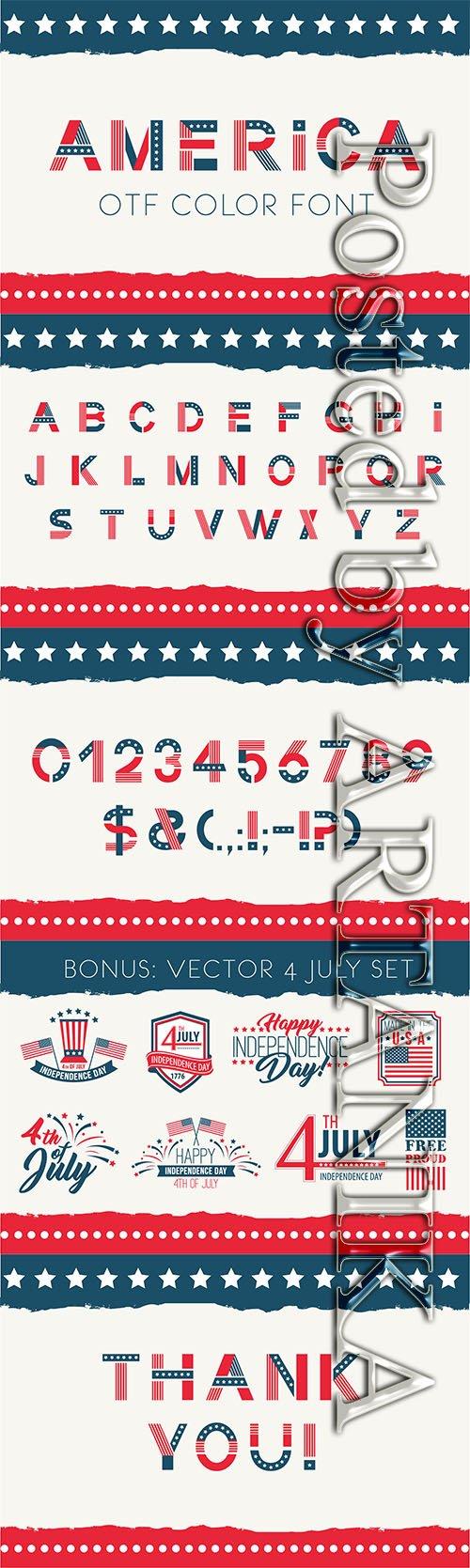 CreativeMarket - America otf color font 2335005