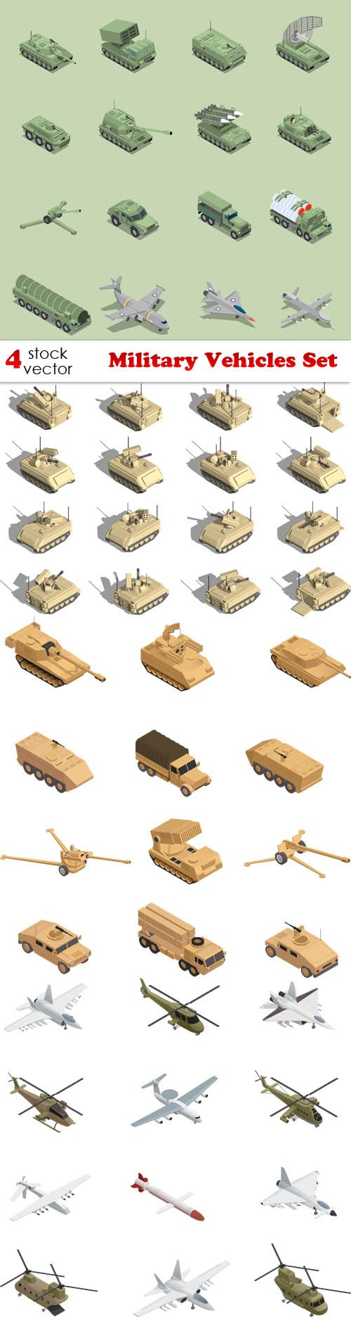 Vectors - Military Vehicles Set