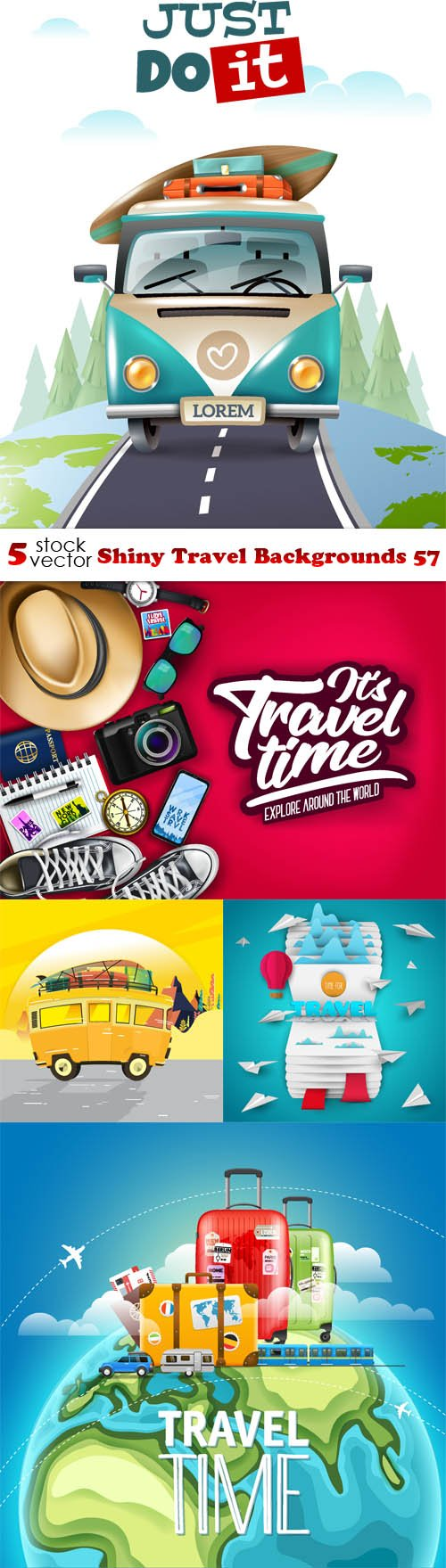Vectors - Shiny Travel Backgrounds 57