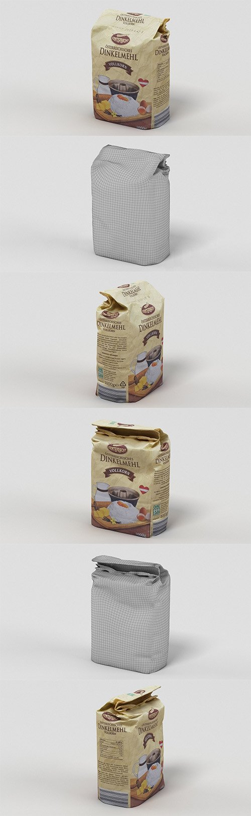 Pack of Flour 3D model
