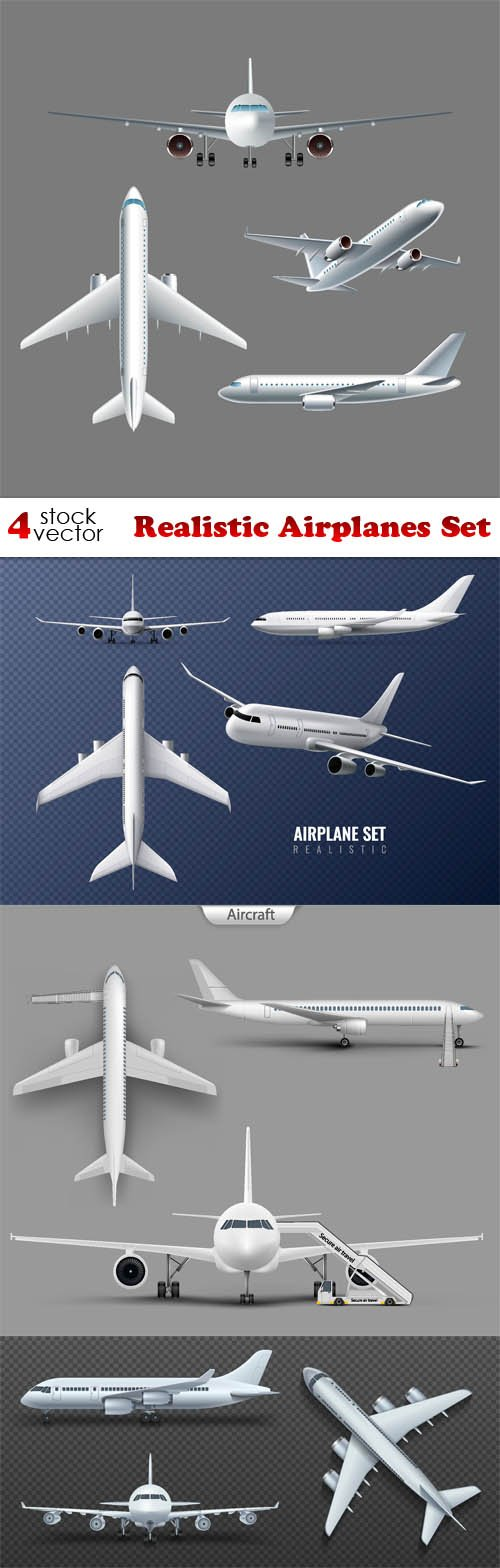 Vectors - Realistic Airplanes Set