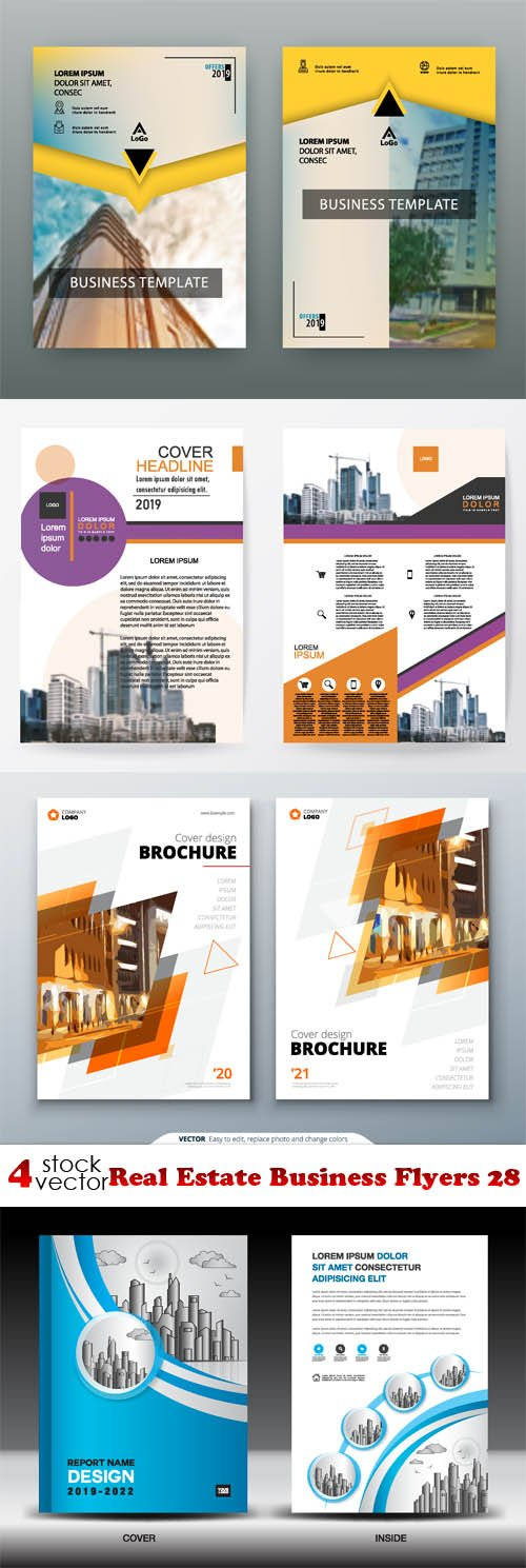 Vectors - Real Estate Business Flyers 28