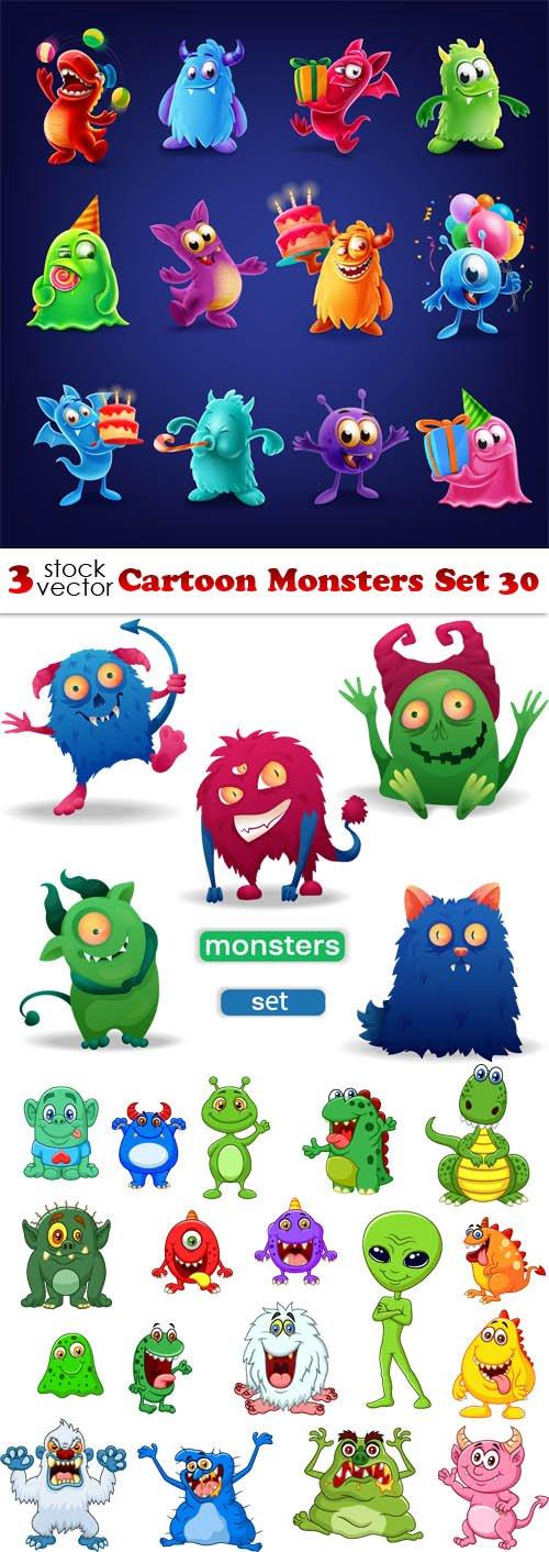 Vectors - Cartoon Monsters Set 30