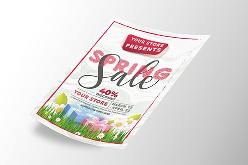 Spring Sale Flyer PSD