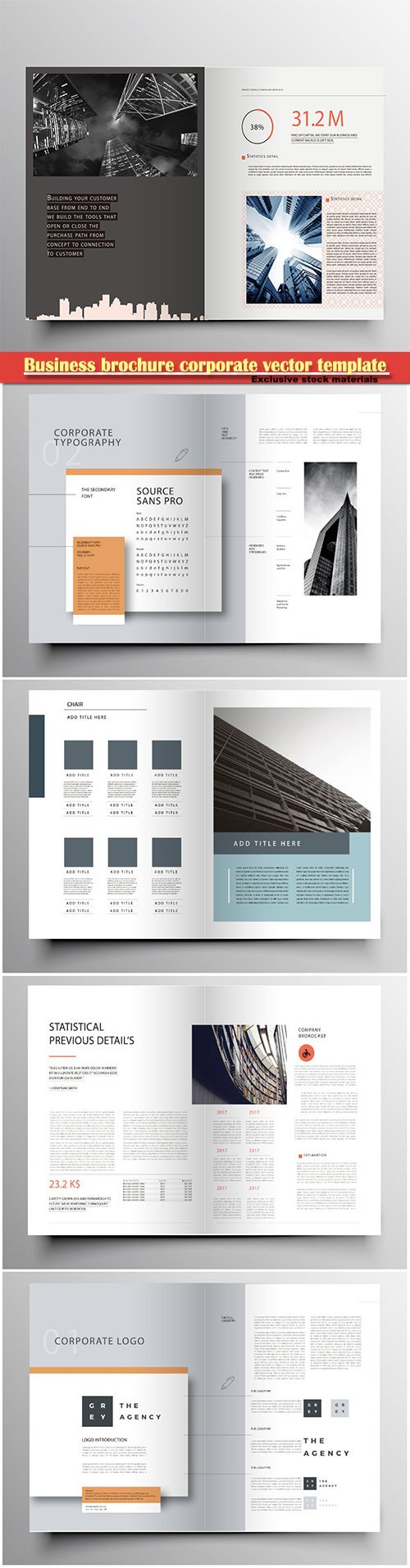 Business brochure corporate vector template, magazine flyer mockup # 48