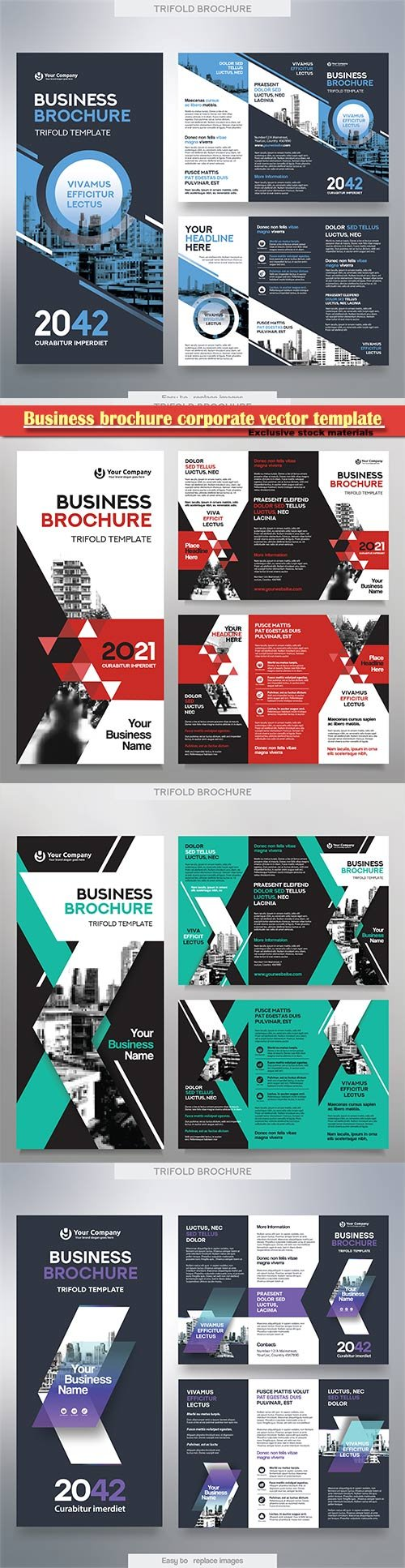Business brochure corporate vector template, magazine flyer mockup # 49