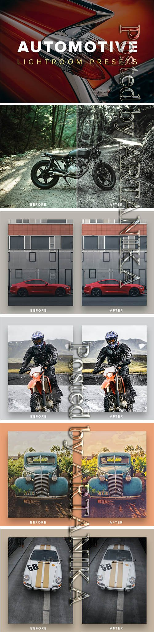 Automotive Lightroom Presets