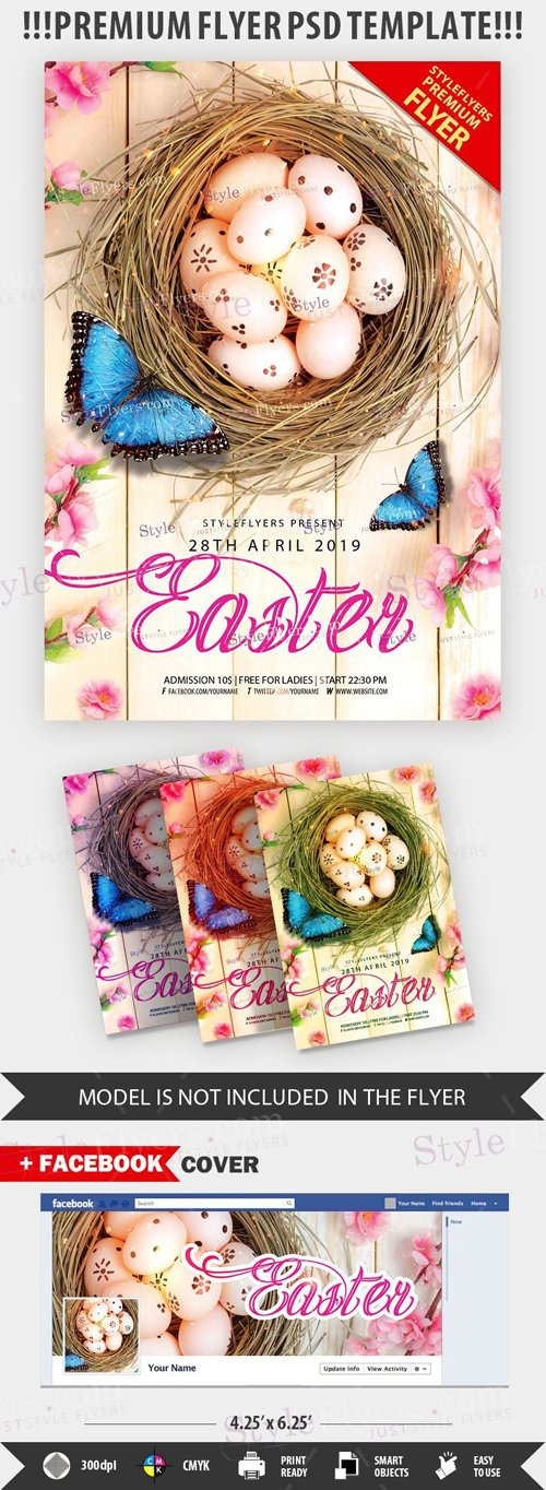 Easter PSD Flyer Template # 2