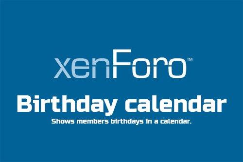 Birthday calendar v1.3 - XenForo 2 Add-on