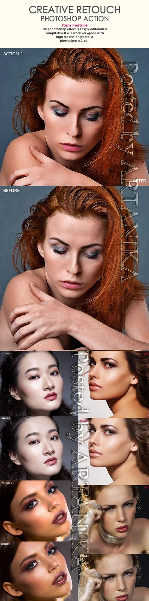 Creative Retouch Photoshop Action Photo Effects 21405013