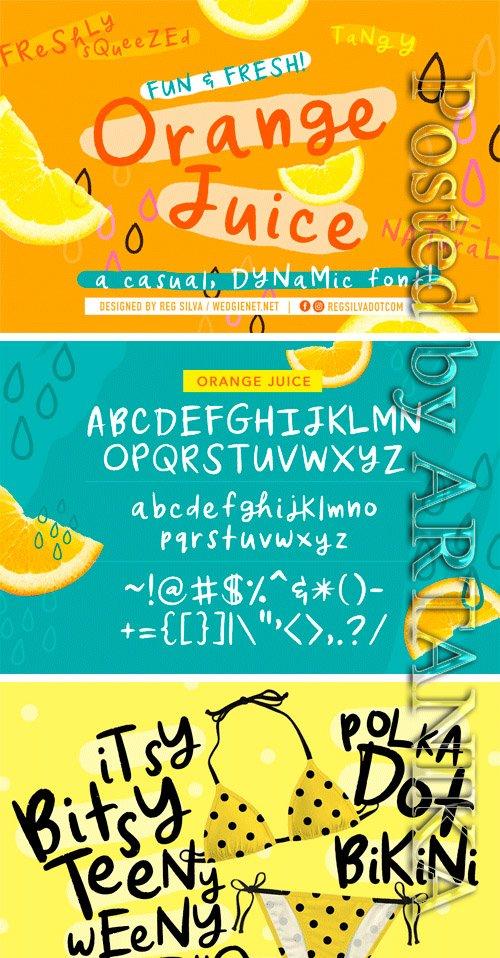 CM - Orange Juice Font 3388714