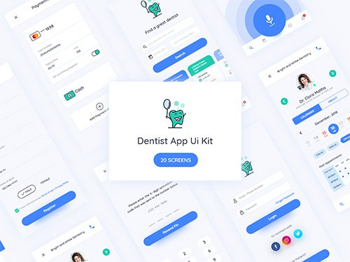 Dentist App Ui Kit