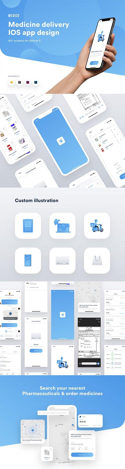 Medico medicine delivery IOS app ui kit