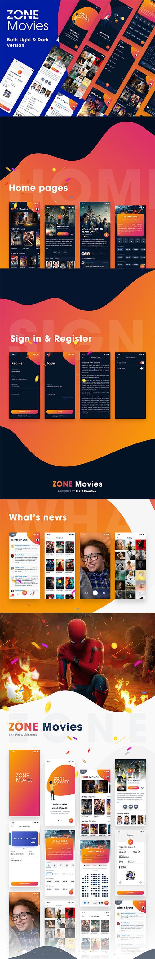 NEW - ZONE Movies - Both Dark & Light Version