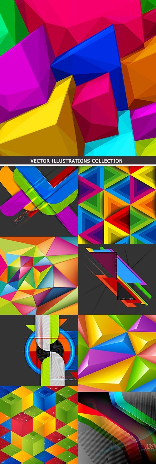 3d geometric abstract colors shape background
