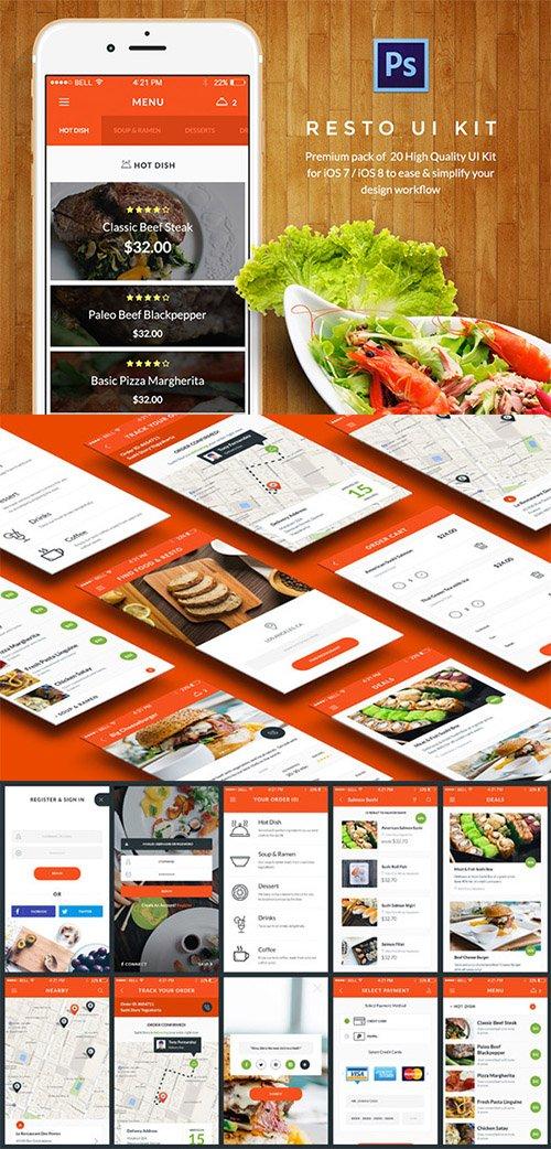 Food & Resto UI Kit