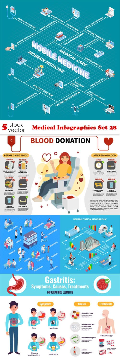 Vectors - Medical Infographics Set 28