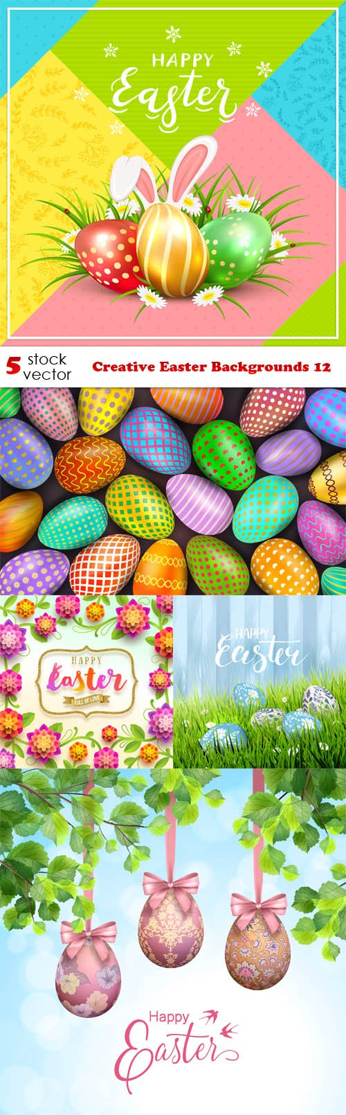 Vectors - Creative Easter Backgrounds 12