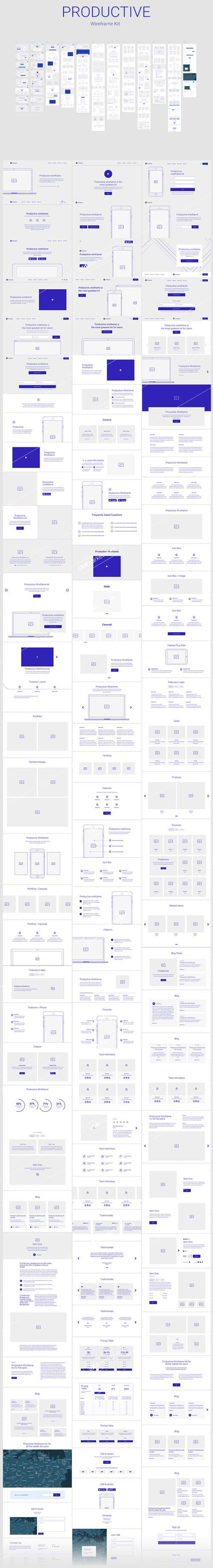 Productive Wireframe