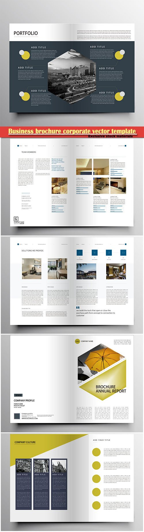 Business brochure corporate vector template, magazine flyer mockup # 51