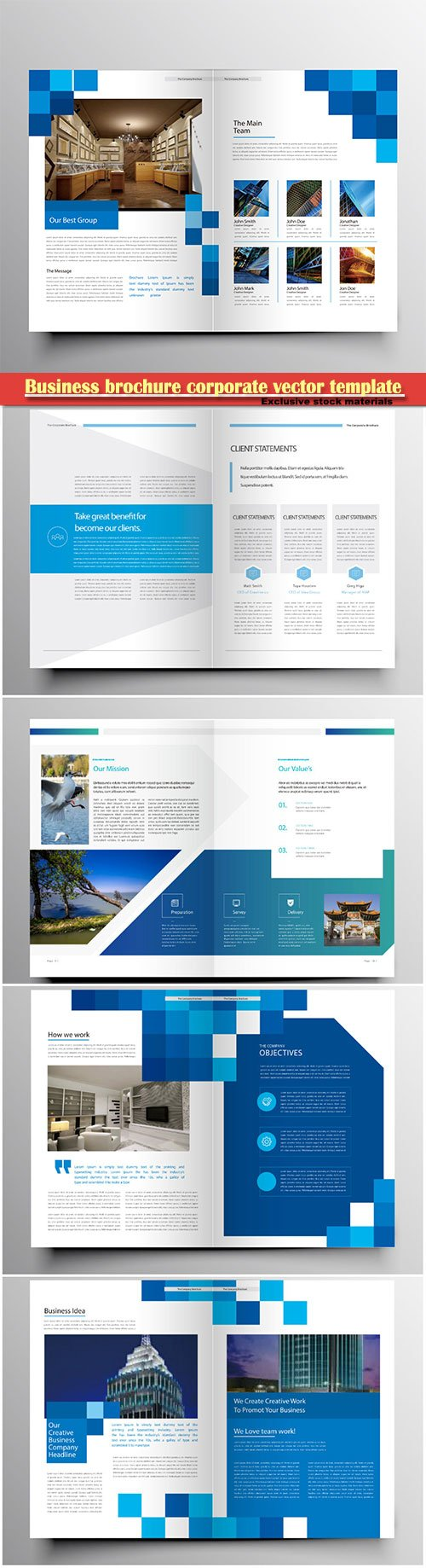 Business brochure corporate vector template, magazine flyer mockup # 50