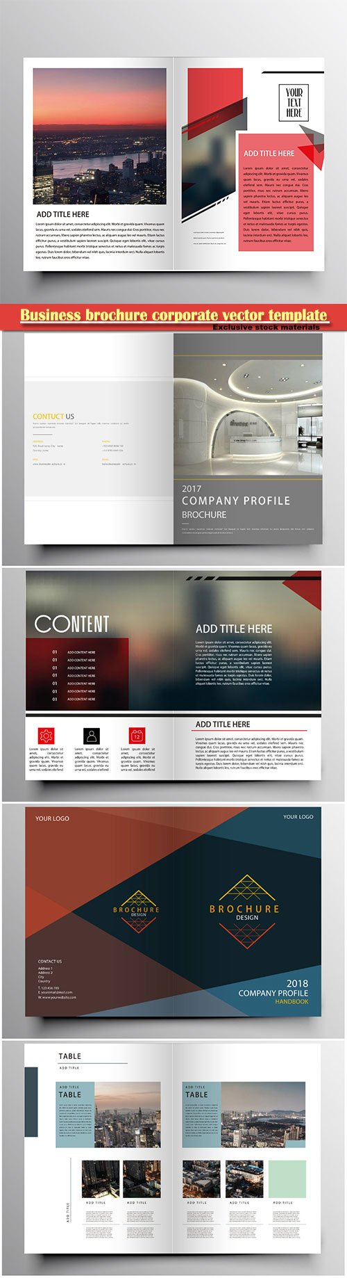 Business brochure corporate vector template, magazine flyer mockup # 52