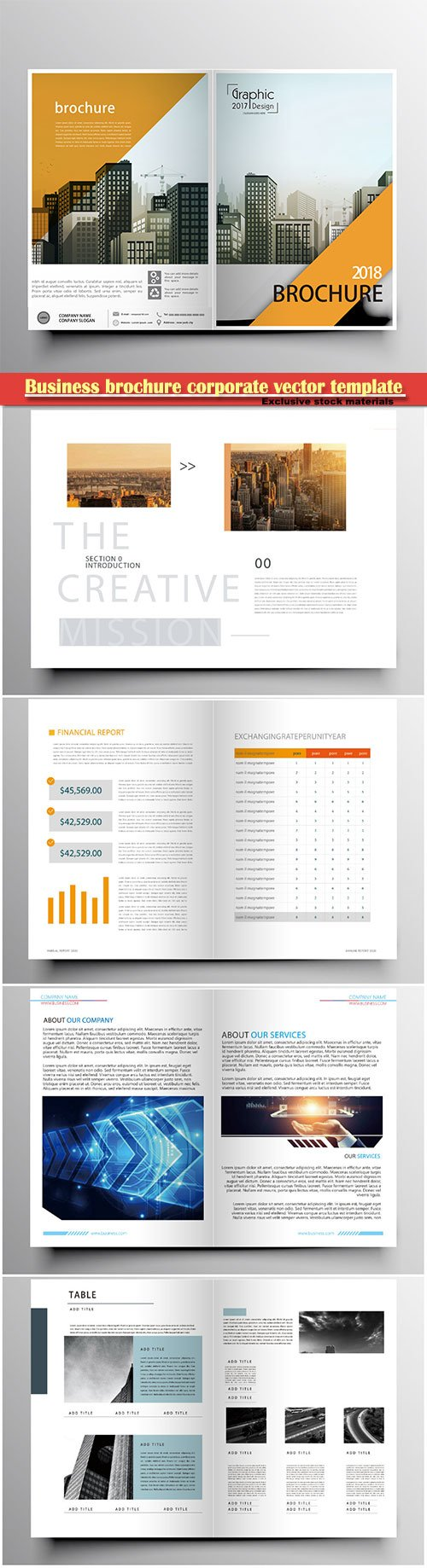 Business brochure corporate vector template, magazine flyer mockup # 53