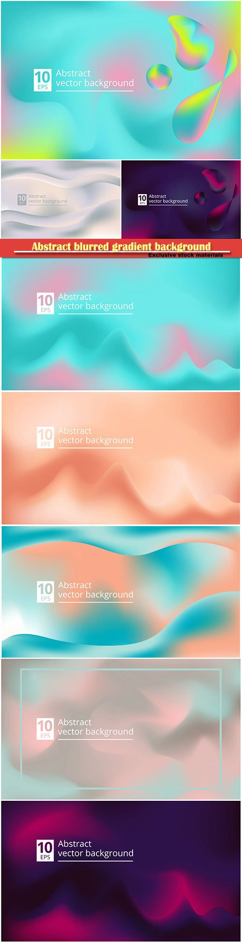 Abstract blurred gradient background with liquid shape