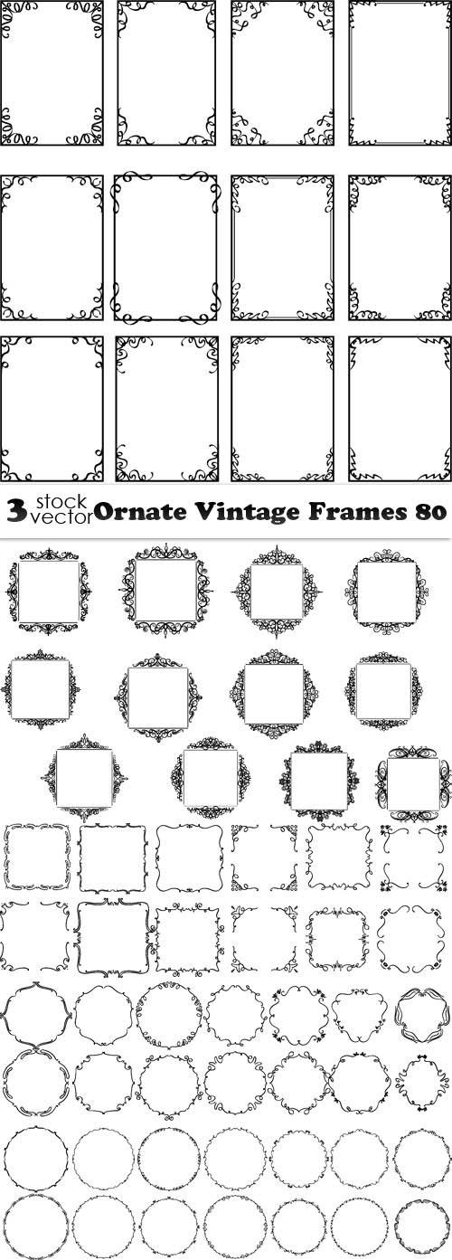 Vectors - Ornate Vintage Frames 80