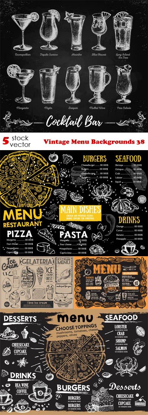 Vectors - Vintage Menu Backgrounds 38