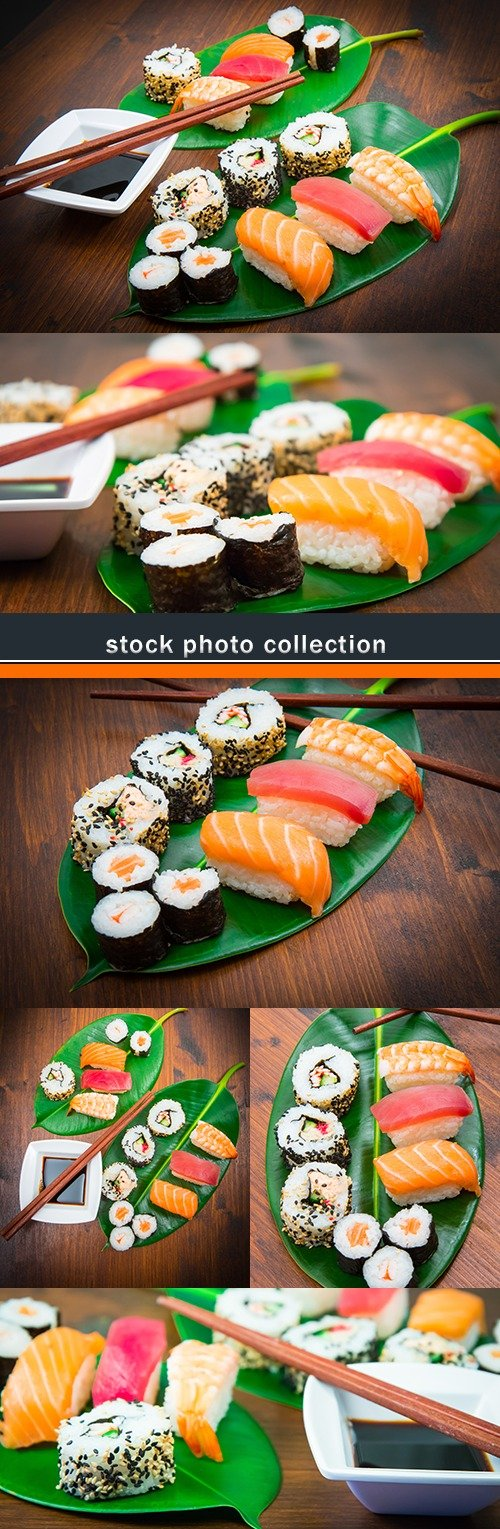 Sushi and beaters Japanese food for gourmet