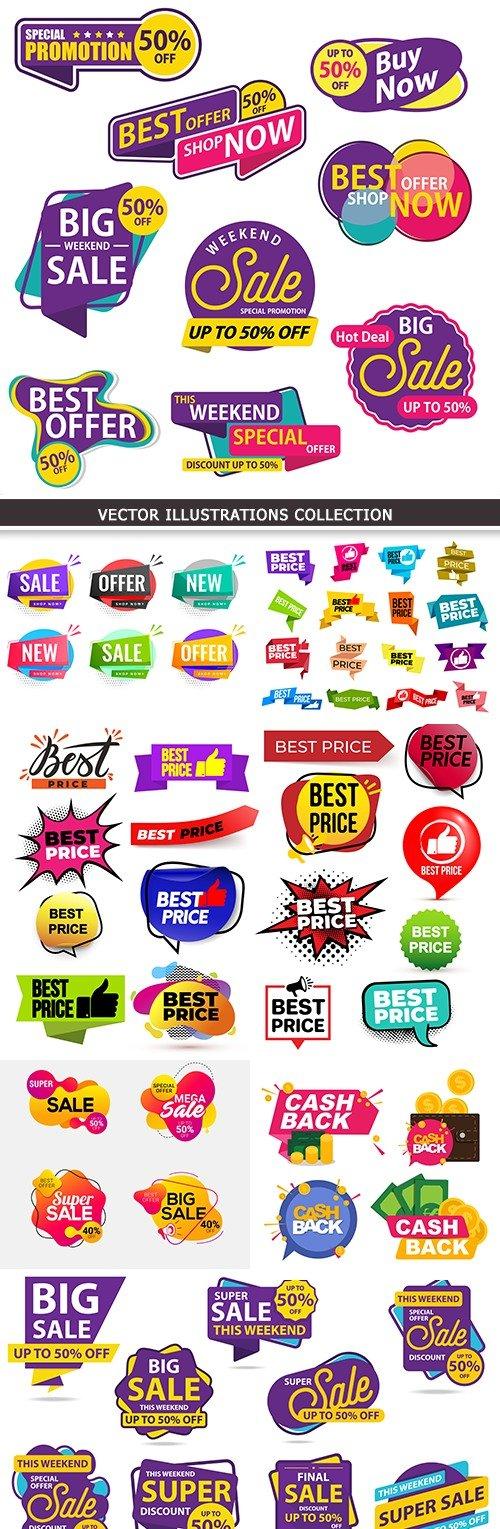 Discount price label, sale marketing, symbol illustration b