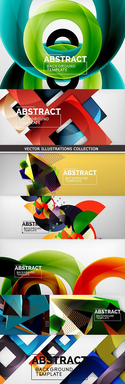 Dynamic abstract geometrical background gradient