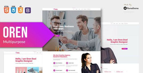 ThemeForest - OREN v1.0 - Responsive Multi-purpose HTML Template - 23365401