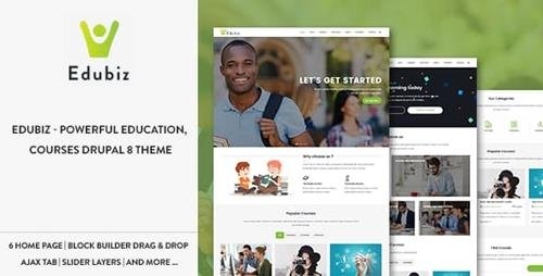 ThemeForest - Edubiz - Powerful Education, Courses Drupal 8.6 Theme (Update: 16 February 19) - 19738749