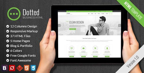 ThemeForest - Dotted v1.0 - Business & Corporate HTML Template - 17352365