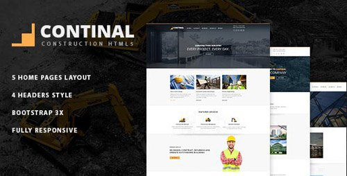 ThemeForest - Continal v1.0 - Construction Business HTML5 Template - 15856427